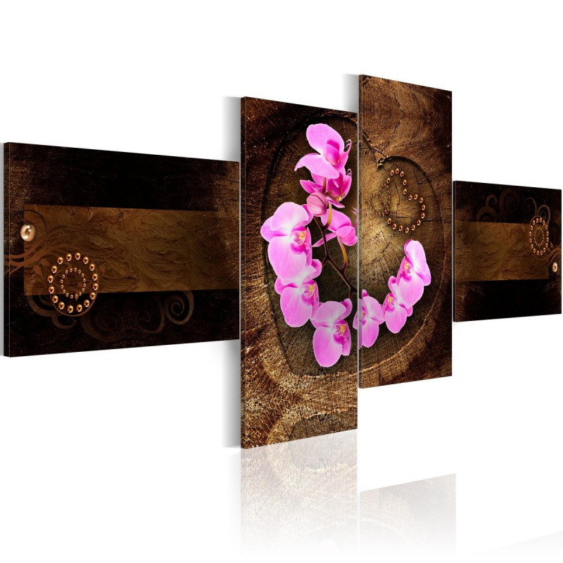 Obraz Orchidea i drewno