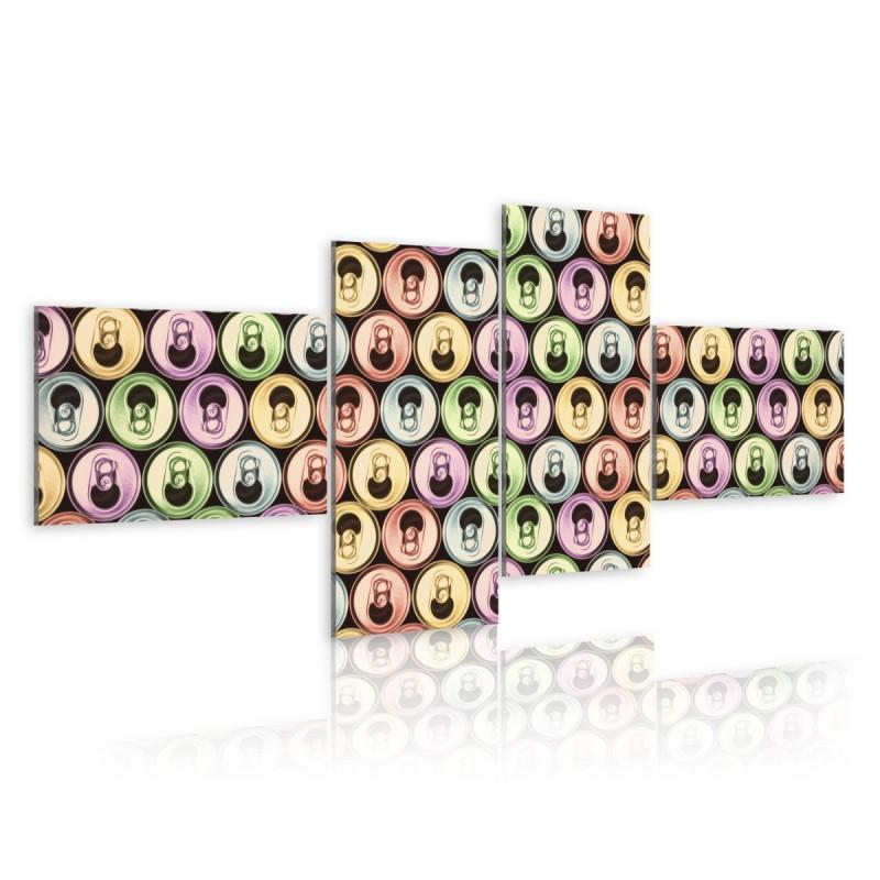 Obraz Kolorowe puszki (pop art)