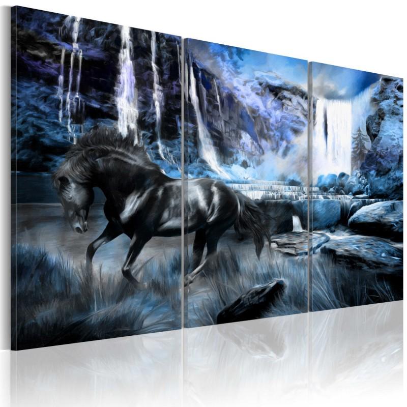 Obraz  Szafirowy wodospad