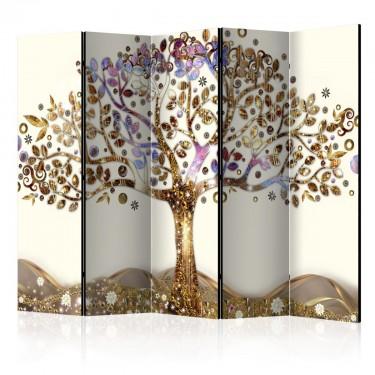 Parawan 5częściowy  Złote drzewo II [Parawan]