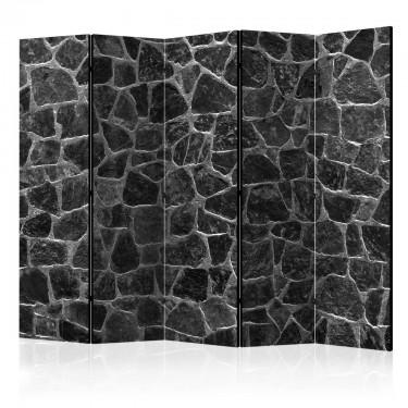 Parawan 5częściowy  Czarne kamienie II [Parawan]