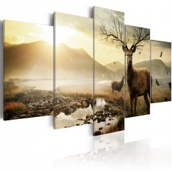 Obraz - Tundra i jelenie