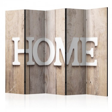 Parawan 5częściowy  Parawan Home na deskach