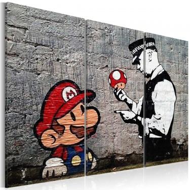 Obraz  Super Mario Mushroom Cop by Banksy