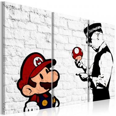 Obraz  Mario Bros (Banksy)