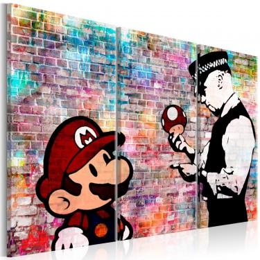 Obraz  Tęczowa cegła (Banksy)