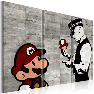 Obraz  Banksy Mario Bros