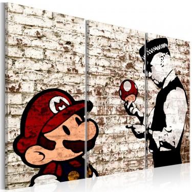 Obraz  Mario Bros Zdarta ściana