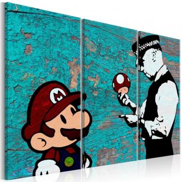 Obraz  Banksy Popękana farba