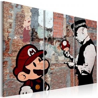 Obraz  Banksy Ostrzeżenie