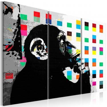 Obraz  The Thinker Monkey by Banksy