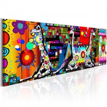 Obraz  Kolorowa sawanna