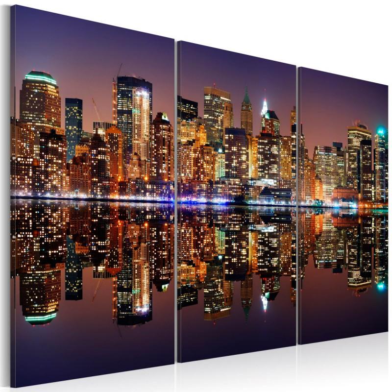 Obraz  Nowy Jork w tafli wody