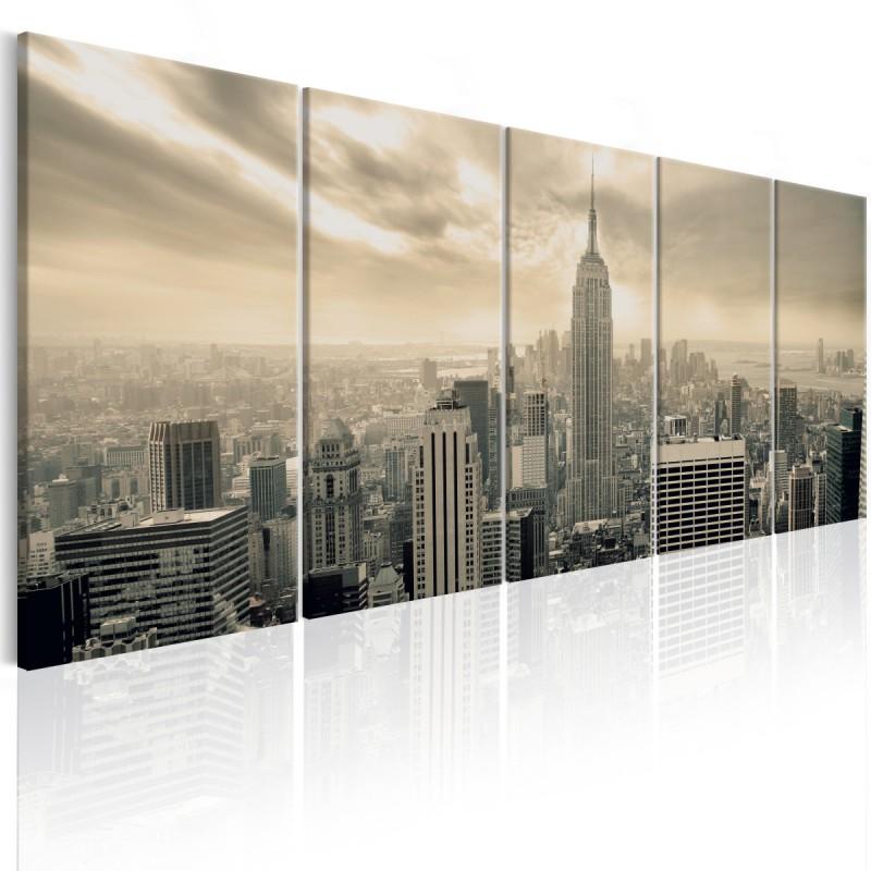 Obraz  Beżowy Manhattan
