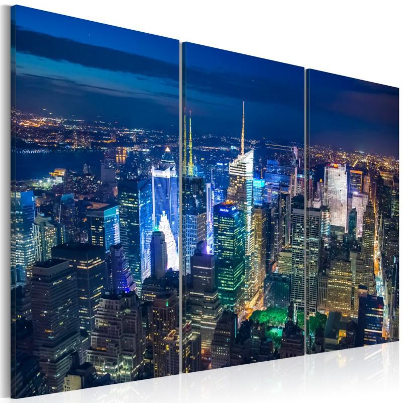 Obraz  Noc w Nowym Jorku z perspektywy ptaka