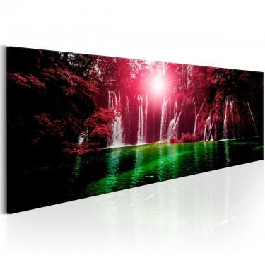 Obraz  Rubinowe wodospady