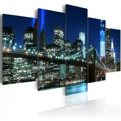 Obraz  Niebieski Nowy Jork