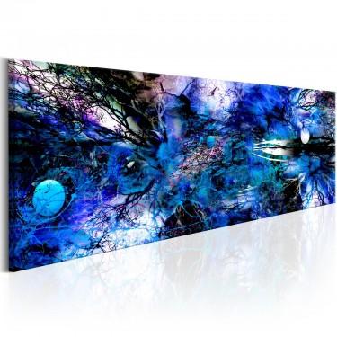 Obraz  Niebieski artystyczny nieład