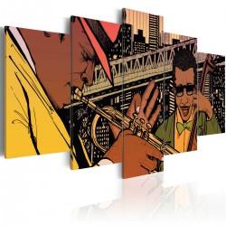 Obraz - Jazzowe granie - NYC