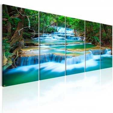 Obraz  Szafirowe wodospady I