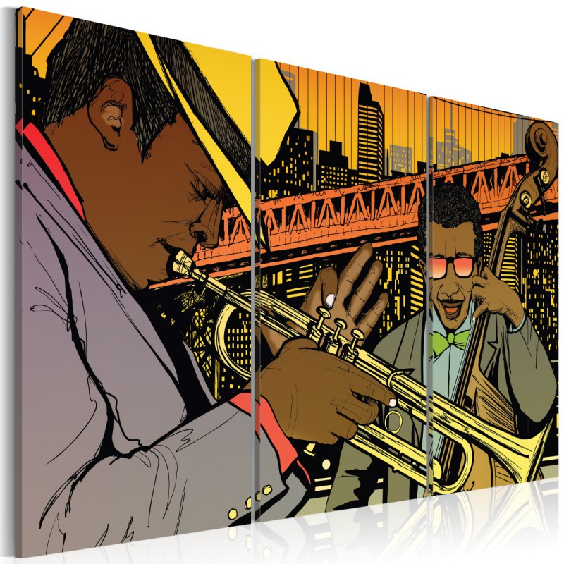 Obraz  Muzyk jazzowy