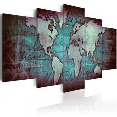 Obraz  Szafirowa mapa