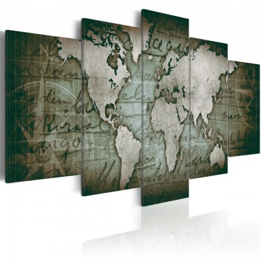 Obraz  Szmaragdowa mapa