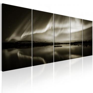 Obraz  Jezioro w sepii I