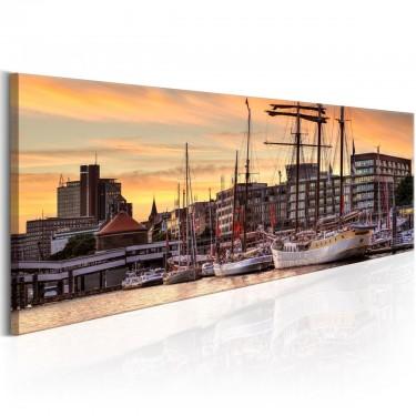 Obraz  Port w Hamburgu