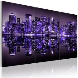 Obraz - Elektryzujący fiolet Manhattanu
