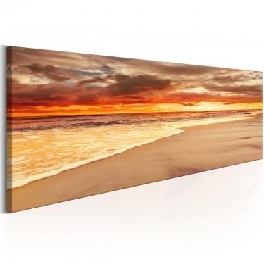 Obraz  Plaża Piękny zachód słońca
