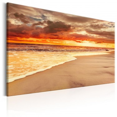 Obraz  Plaża Piękny zachód słońca II