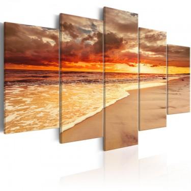 Obraz  Morze Piękny zachód słońca