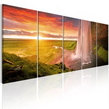 Obraz  Wodospad Seljalandsfoss I