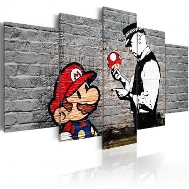 Obraz  Super Mario Mushroom Cop (Banksy)
