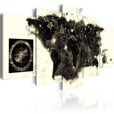 Obraz  Czarne kontynety