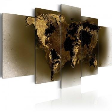 Obraz  Mosiężne kontynenty