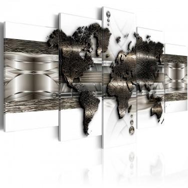 Obraz  Mapa metalowego świata II