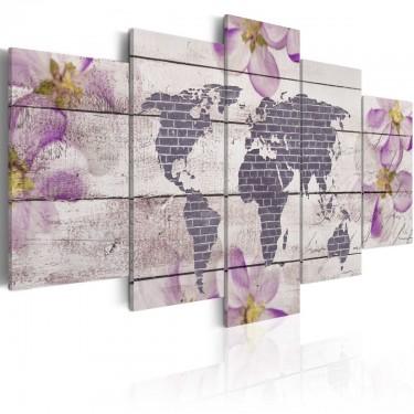 Obraz  Romantyczna mapa świata