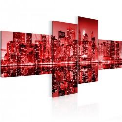 Obraz - NYC - miasto w odcieniach czerwieni