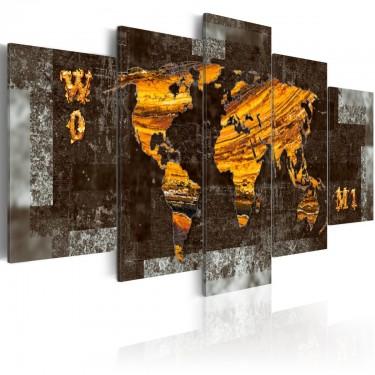 Obraz  Ukryte skarby (Mapa świata)