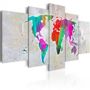 Obraz  Kolorowa planeta