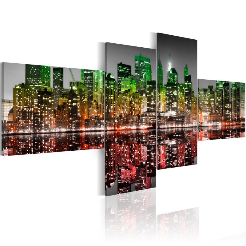 Obraz Tęczowy widok na Nowy Jork