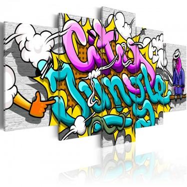 Obraz  Graffiti miejska dżungla