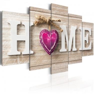 Obraz  Home Różowe serce