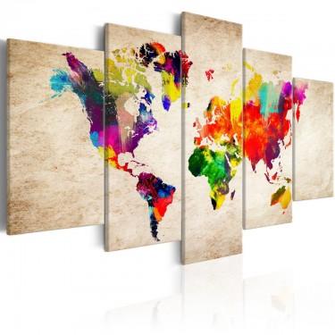 Obraz  Mapa świata Abstrakcyjna fantazja