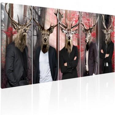 Obraz  Ludzie w maskach