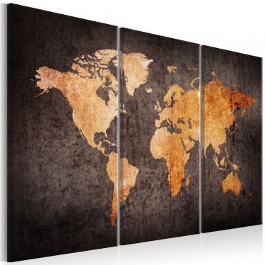 Obraz  Kasztanowa mapa Świata