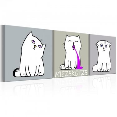Obraz  Miezekotze Kocie trio