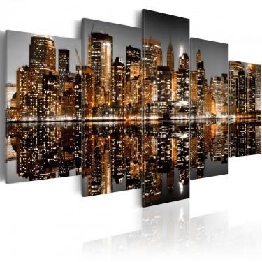 Obraz  Złociste wrażenia z Manhattanu